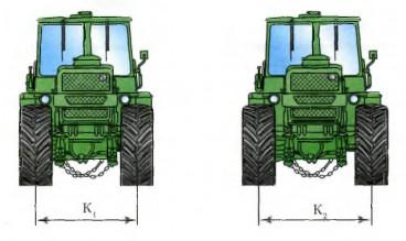 3. На какую колею должны быть расставлены колеса самоходной машины при выполнении транспортных работ?