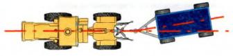 6. Какой увод (виляние) прицепа допускается при прямолинейном движении агрегата?