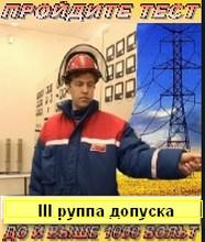 ЭБ 303.1 (НОВЫЕ билеты)  Проверка знаний электротехнического и электротехнологического персонала по электробезопасности (III группа допуска до и выше 1000 В)