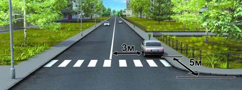 <p>Разрешено ли водителю поставить автомобиль на стоянку в указанном месте?</p>